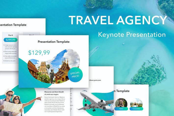 Thumbnail for TRavel Agency Keynote Template