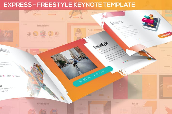 Thumbnail for Express - Freestyle Keynote Template