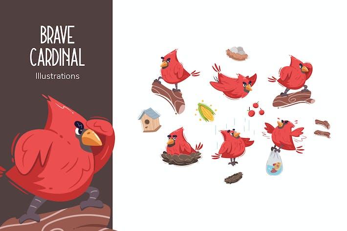 Thumbnail for Mutige Kardinal-Illustrationen