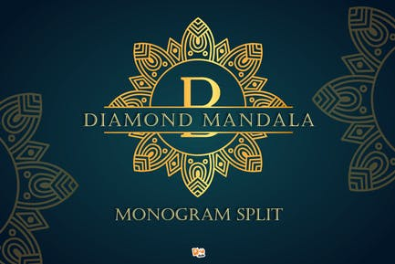 Diamond Mandala Monogram
