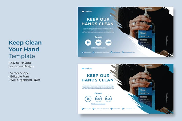 Keep Your Hand Clean Campaign Template