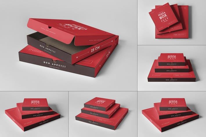 Thumbnail for Pizza Boxes Mock-up