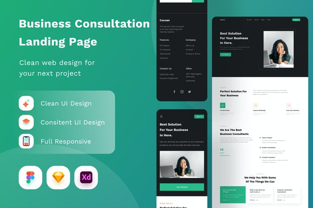 Business Consultation Landing Page