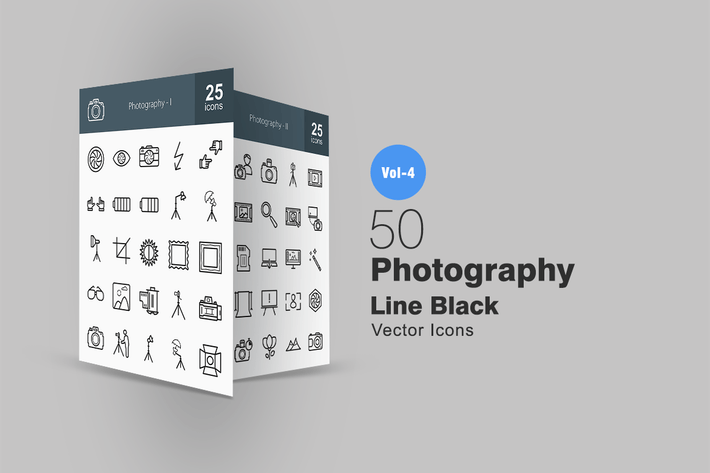 Thumbnail for 50 Photography Line Icons