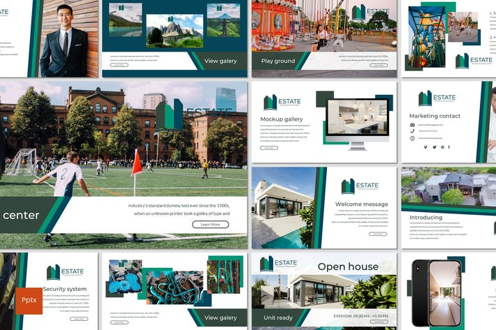 Thumbnail for Estate - Powerpoint Template