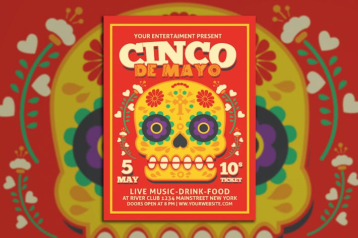 Thumbnail for Cinco De Mayo Flyer Poster