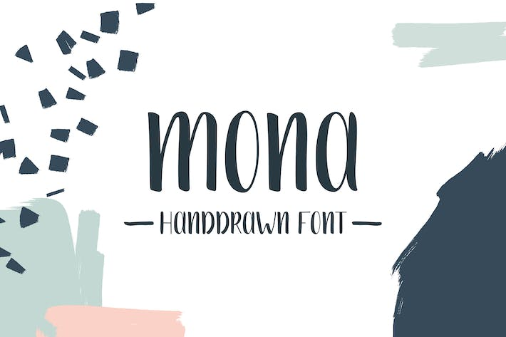 Thumbnail for Mona Handdrawn Font