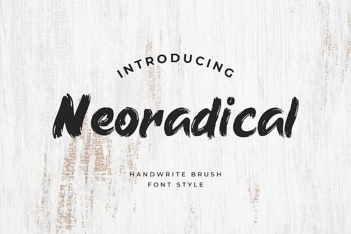 Thumbnail for Neoradical Handwritten Brush Font