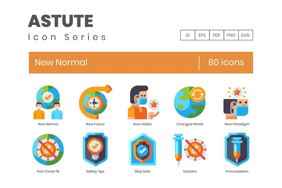 80 neue Normal Icons - Astute Series