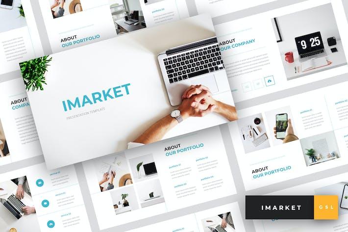 Thumbnail for Imarket - Internet Marketing Google Slides Templat