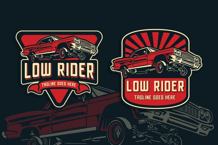 Thumbnail for Low Rider Vintage Logo Template