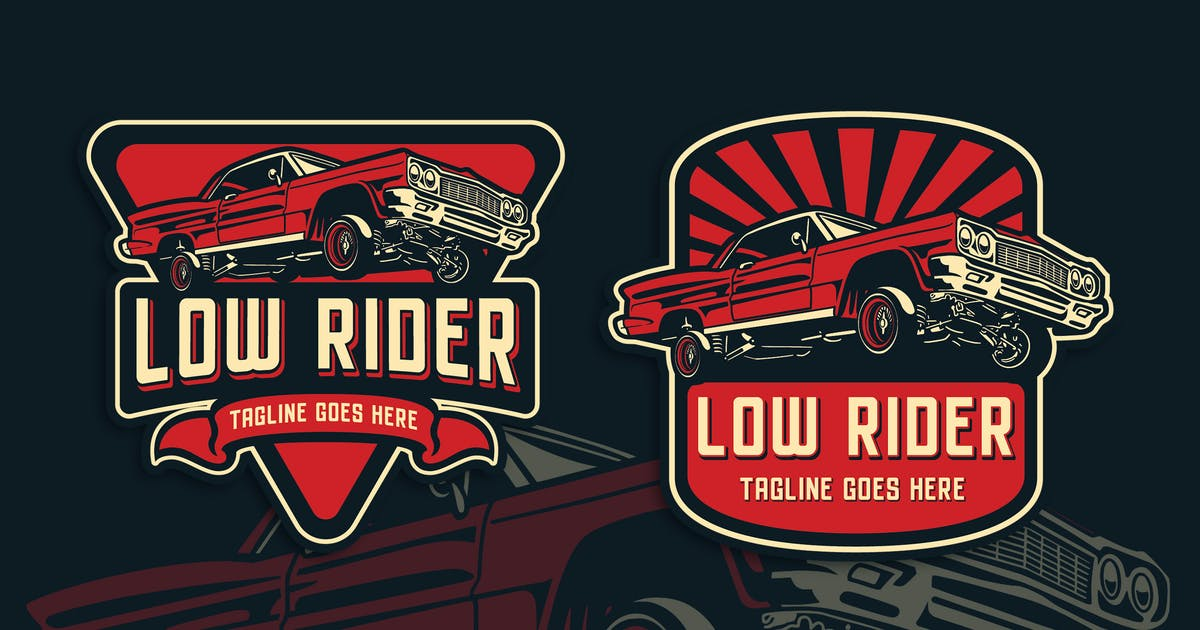 Download Low Rider Vintage Logo Template by Blankids