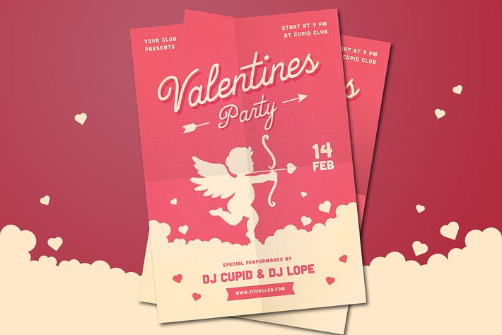 Thumbnail for Valentines Party Flyer