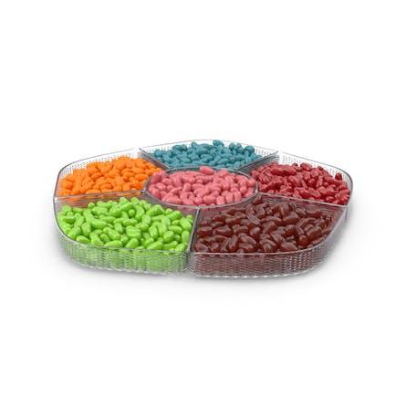 Fachschale mit Jelly Beans