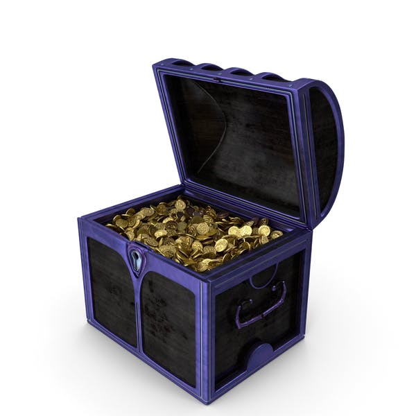 Small Magical Chest with Coins