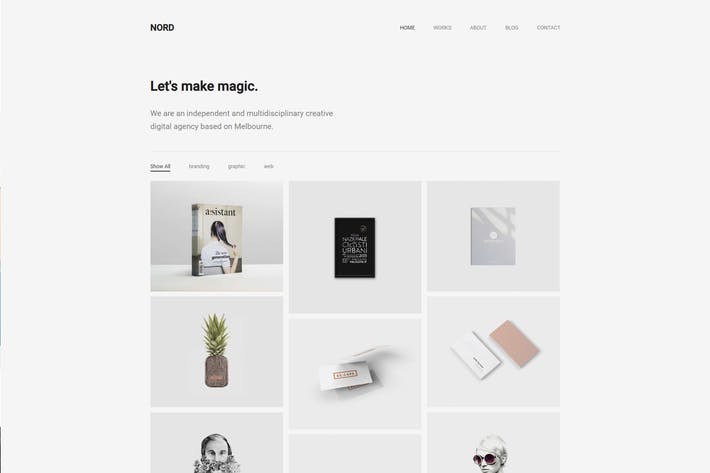 Thumbnail for Nord - Minimal Portfolio WordPress Thema