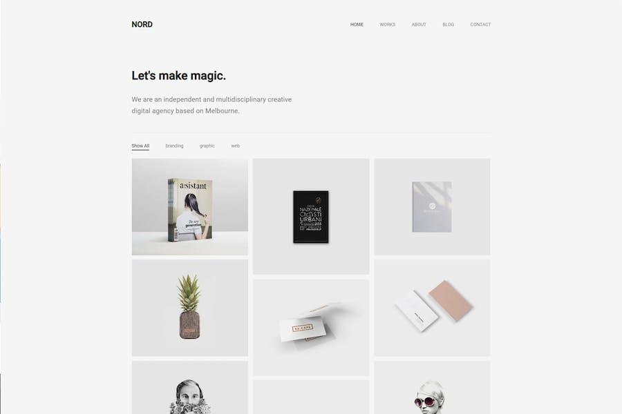 Nord - Minimal Portfolio WordPress Theme