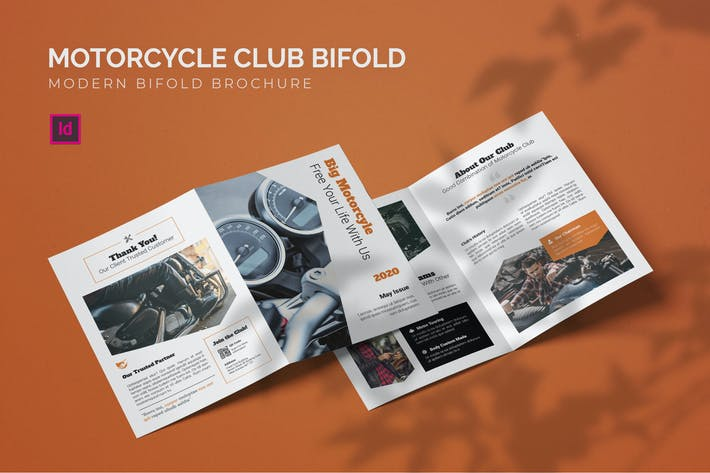 Thumbnail for Motorcycle Club - Bifold Brochure