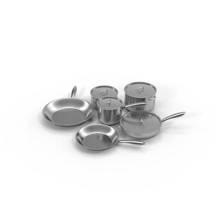 Küchengeschirr-Set aus Edelstahl