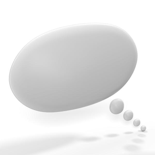 Thumbnail for White Thought Bubble Round