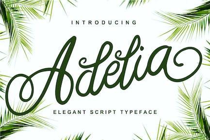 Adelia - Elegant Script Typeface