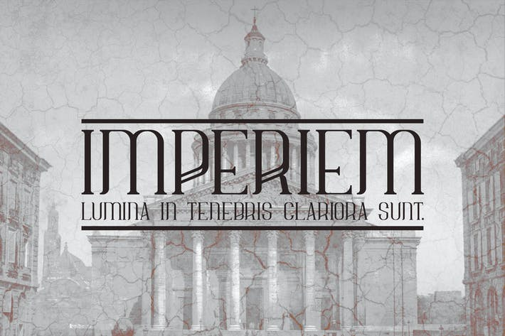 Thumbnail for Imperiem regular typeface