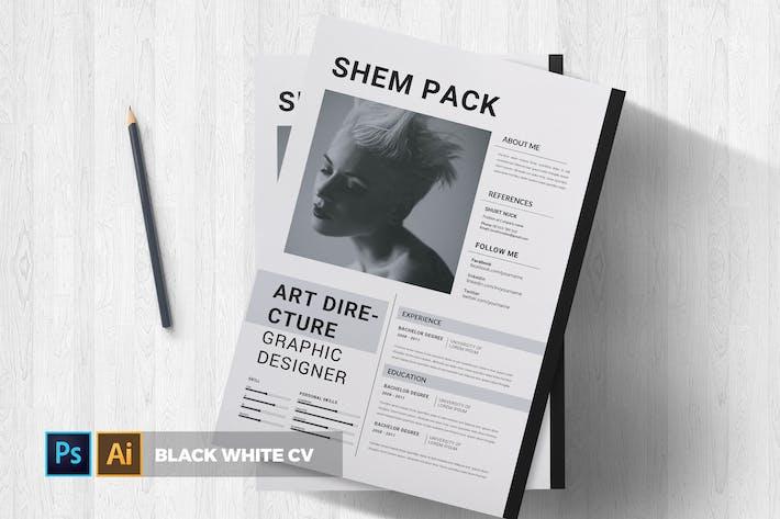 Thumbnail for Black White | CV & Resume