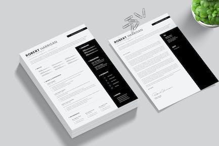 Black Resume & Cover Letter