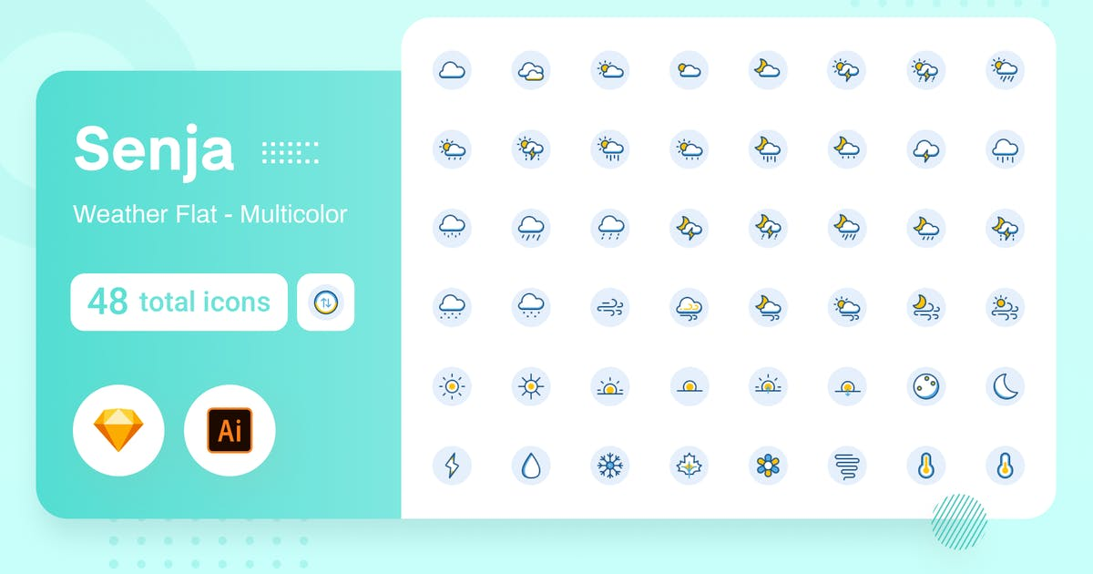 Download Multicolor Senja - Weather by usedesignspace