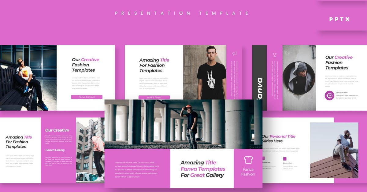 Download Fanva - Presentation Template by aqrstudio