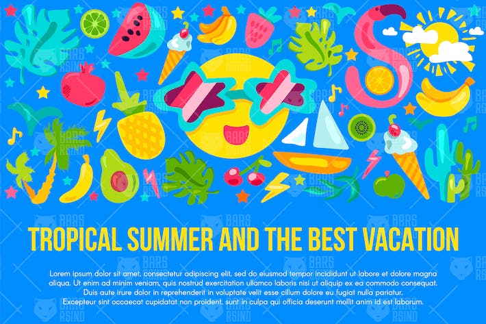 Thumbnail for Tropical Summer Vacation Banner
