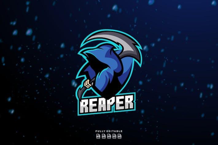 Thumbnail for Reaper Character Esport Gaming Logo