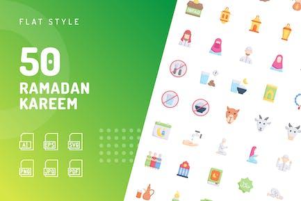 Ramadan Kareem Flat Icons