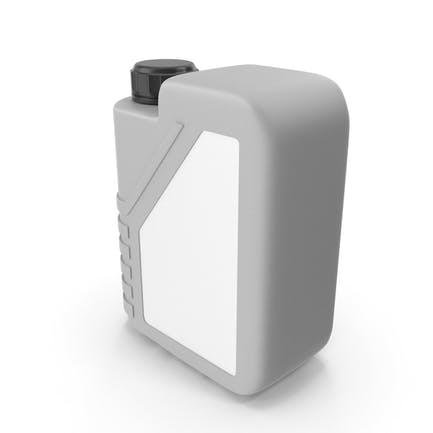 Grey Plastic Jerrycan with Black Cap and Logo