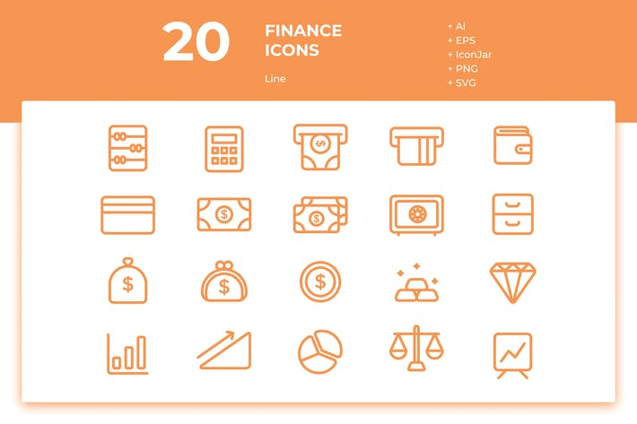 Thumbnail for 20 Finance Icon (Line)