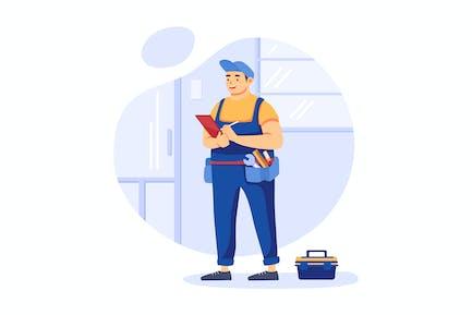 Home Maintenance - Handyman Service Illustration