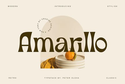 Amarillo - Modern Sans Font
