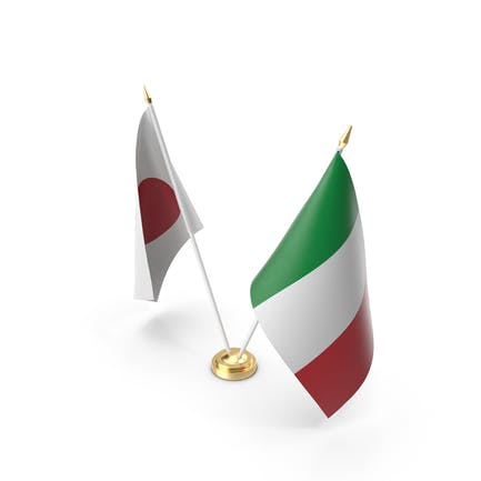 Tischflaggen Italien und Japan