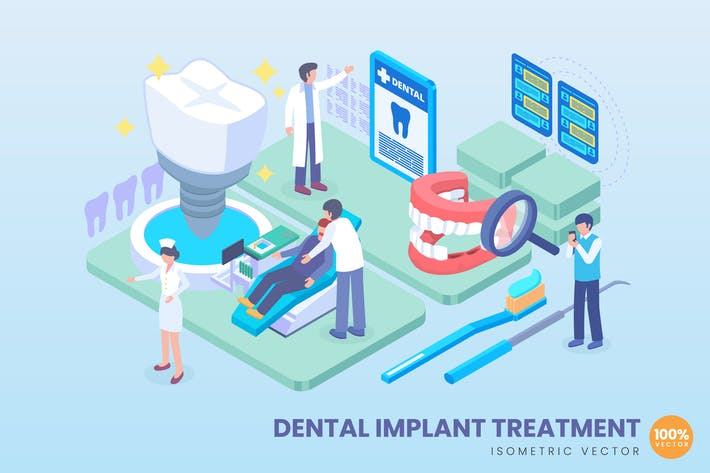 Thumbnail for Isometric Dental Implant Treatment Concept