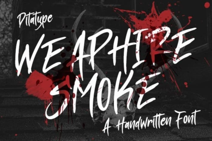 Thumbnail for Weaphire Smoke-Handweritten Font
