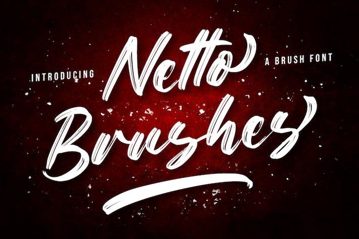 Netto Brushes - Brush Font