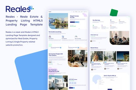 Reales - Real Estate Listing HTML Landing Page