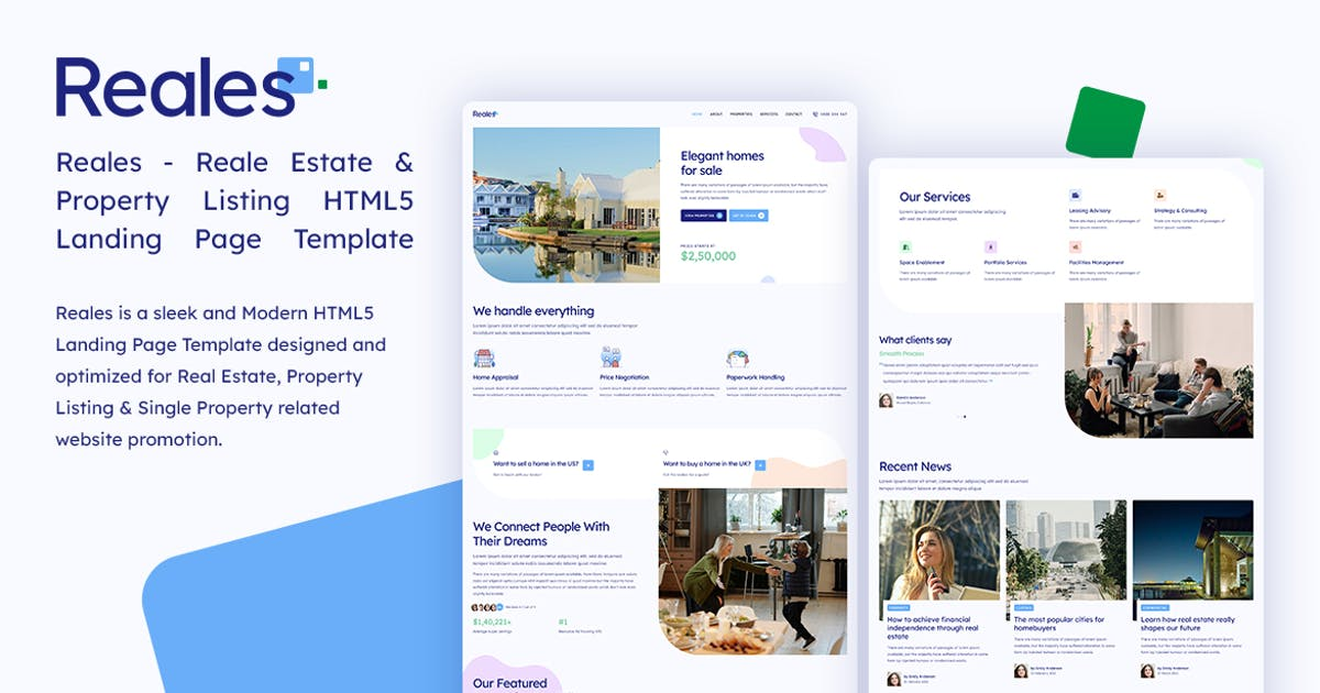 Download Reales - Real Estate Listing HTML Landing Page by tansh