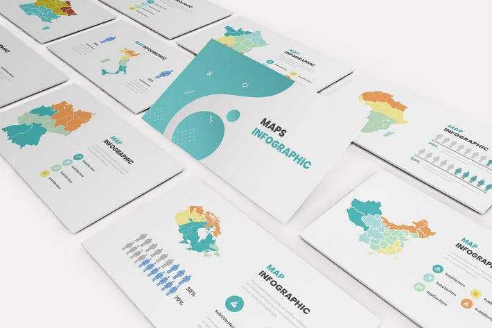 Thumbnail for Maps Infographic Keynote Template