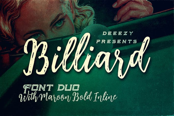 Thumbnail for Billiard Font Duo