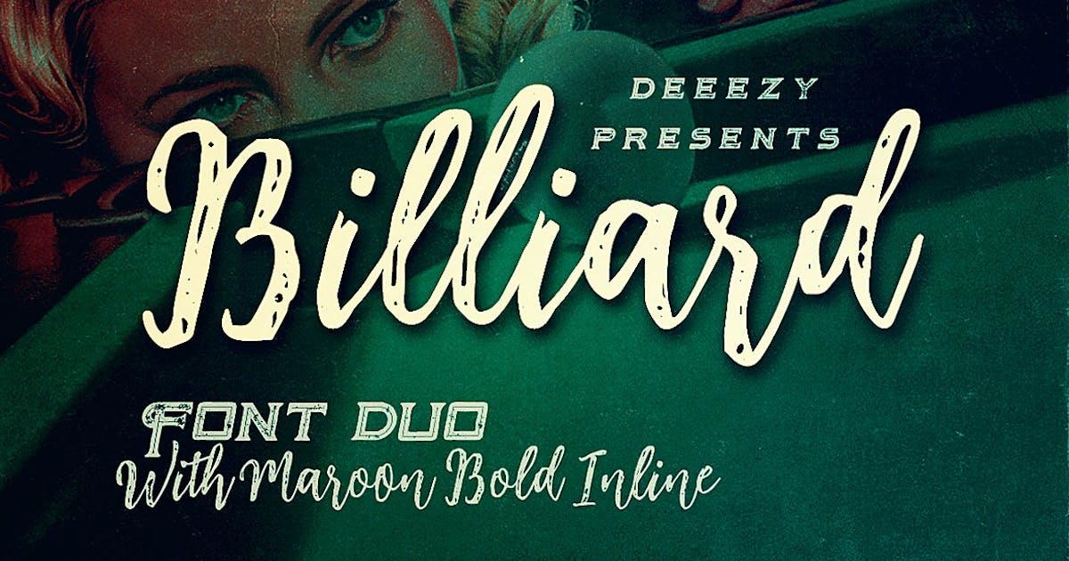 Download Billiard Font Duo by cruzine