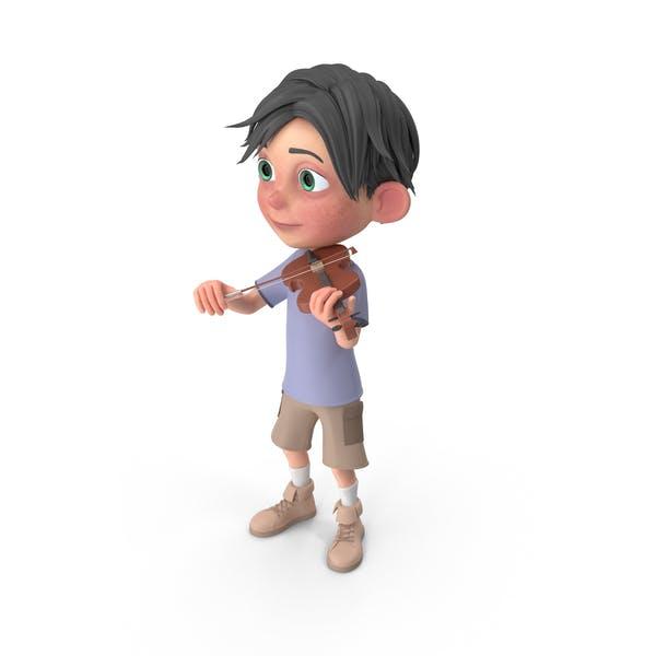 Thumbnail for Cartoon Boy Jack Playing Violin