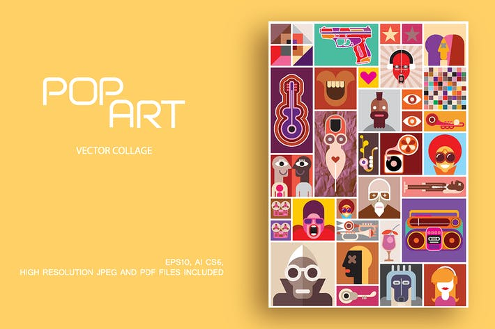 Thumbnail for Pop Art vector collages (2 artworks)
