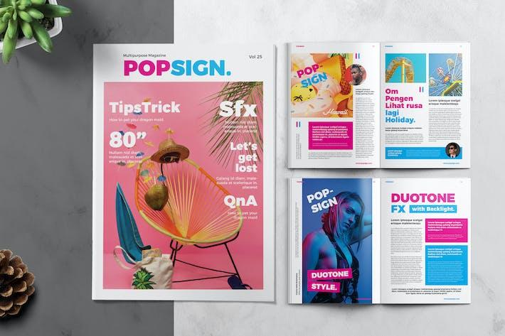 Thumbnail for Popsign Modèle de magazine jeune et coloré