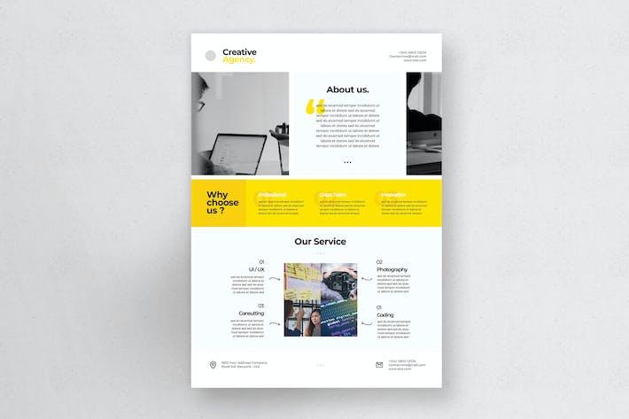 Thumbnail for Unternehmens- Flyer A4 - Vol.4